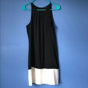 Theory sleeveless dress black & white